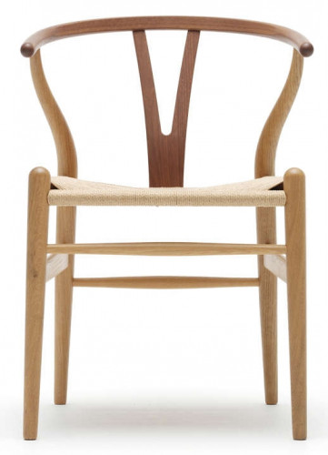 Set 4 sedie CH24 Wishbone Chair Carl Hansen & Son Rovere Olio
