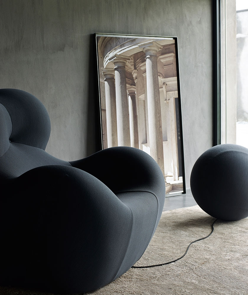 Poltrona up design gaetano pesce b b italia nera miglior for B b design roma
